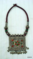 vintage antique tribal old silver necklace pendant traditional jewellery indian