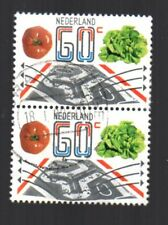 Netherlands 618.  Exports: vertical pair showing lettuce and tomatoes