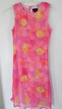 My Michelle Juniors Pink Lined Sleveless Floral Dress Size 9/10