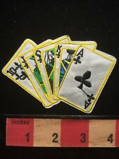 Poker Gamble Royal Flush Card Playing Jacket Patch Ace Clubs King Queen Jack 657