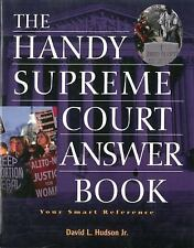 The Handy Supreme Court Answer Book (Handy Answer Books), Hudson, David L., New