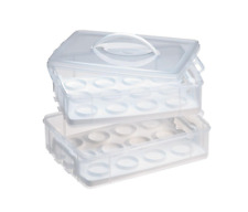 Snapware Snap N' Stack Cookie and Cupcake Carrier 2-Layer Food Storage Container