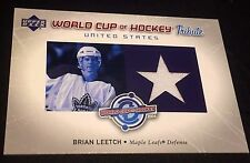 BRIAN LEETCH 2004-05 Upper Deck World CUP of Hockey Tribute JERSEY Card #WC-BL