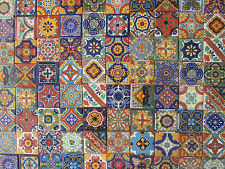 "100 MIXED DESIGNS 2"" X 2"" mexican talavera TILE"