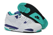 DS Nike Air Flight 89 White Dark Concord Jade 306252 113 Mens BBall Shoes sz 9.5