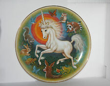 """Unicorn Fantasies Plate """"Followers of Dreams"""" 1st Series Limited Edition K. Chin"""