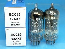 MULLARD 12AX7 ECC83 VACUUM TUBE 1957 MATCH PAIR BEST OF BEST DOUBLE GOAL POST M2