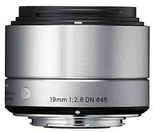 Sigma EX 19mm F/2.8 Lens For Olympus/Panasonic - Silver micro four thirds lens