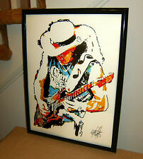Stevie Ray Vaughan, SRV, Blues Guitar Player, Singer, 18x24 POSTER w/COA 1
