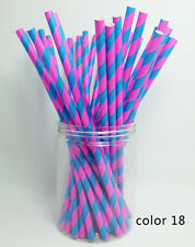 25 Paper Straws Festival Pattern Drinking Straw For Halloween Christmas Color 18