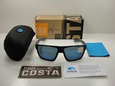 COSTA DEL MAR BLOKE POLARIZED BLK124 OBMP SUNGLASSES BLACK & GRAY/BLUE 580P LENS