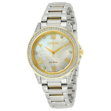 Citizen POV Eco-Drive Mother of Pearl Dial Ladies Watch EM0234-59D
