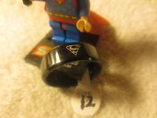 SUPERMAN RING ~ Fashion Titanium Boys ~ Men Black Batman Symbol Polished Ring G2