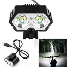 6000LM 2 X CREE XM-L T6 LED USB Waterproof Lamp Bike Bicycle Headlight flashligh