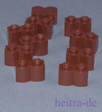 LEGO - 10 x Palisadenstein, braun 1x2 / braune Palisade / 30136 NEUWARE
