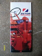 Vintage Zetor First Diesel Powered tractor Brochure unused