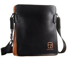 Men Genuine Bull Leather College Messenger Shoulder Satchel Cross Body Sport Bag