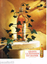 PUBLICITE ADVERTISING 065  1987  GRANT'S   whisky