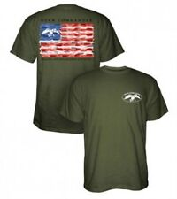 Duck Dynasty Duck Commander 2XL Moss Green American Flag T-Shirt BRAND NEW