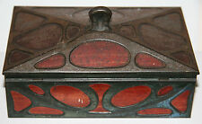 Antique Huntley & Palmers Arts & Crafts Art Nouveau Edwardian Biscuits Tin 1905