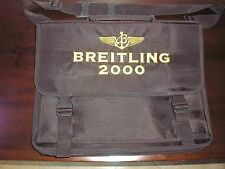 Vintage Breitling Black Nylon Computer/Travel Bag
