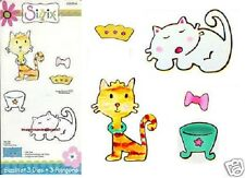 Sizzix Sizzlits CAT SET 655814 KITTY Last One! So Cute