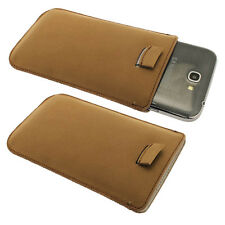 Brown Leather Pouch for Samsung Galaxy Note 2 II N7100 Android Case Cover Holder