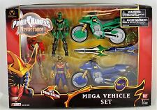 Power Rangers MYSTIC FORCE 5 in Solaris Knight Red Green Ranger Vehicle Set  New