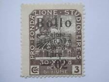VECCHIA MARCA DA BOLLO posta Fiume 1918 SOVRASTAMPA lire 5 *