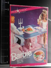 Mattel House Accessories Dream DINING TABLE & CHAIRS PINK MAGIC Barbie 1774