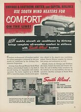 1952 South Wind Aircraft Ground Heater Ad Portable Truck Airlines C&S United