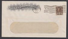 Canada Sc MR7 on 1917 Pugsley, Dingman & Co. Advertising Cover
