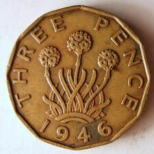 1946 GREAT BRITAIN 3 PENCE - THE KEY DATE - HUGE VALUE RARE - FREE SHIP #HV3