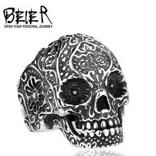 Fashion Man's Stainless Steel skull  ring  Titanium steel Ring size:11