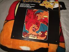 Pokemon Charizard Anime NES 46X60 Plush Fleece Throw Blanket Orange Fire Dragon
