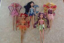 Barbie Fairytopia Dolls Magic of Rainbow Mariposa Glee Sunburst Moon Star LOT