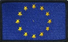 EUROPE (EU) Flag Military Patch With VELCRO® Brand Fastener Black Border #27