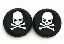 2 WHITE Skull Bones Silicone Thumb Stick Grips for XBOX ONE / 360, PS3 and PS4