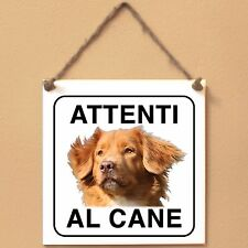 Nova Scotia Duck Tolling Retriever 1 Attenti al cane Targa cane cartello