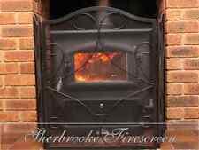SHERBROOKE FIRE SCREEN / GUARD SHIELD / FIRESCREEN /BLACK IRON 3 PANEL FIREPLACE