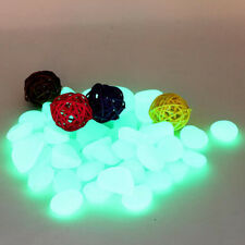 5x Glow In The Dark Pebbles Stone Fluorescent Decor Walkway Aquarium Fish Tanks