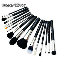 Jessup 15pcs Black/Silver Makeup Brushes Set kabuki Foundation Brushes Tools US