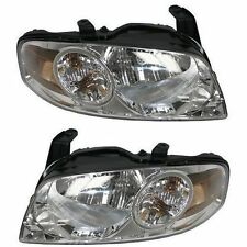 For 04-06 Nissan Sentra Base And S Models Headlights Headlamps Pair Set