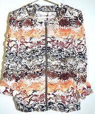 Chicos Jacket Gabby Gorgeous Pattern Neutral Chico's Size 2 ( size M -  12)  NWT
