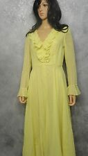 Neiman-Marcus Rona ILGWU Union Made USA Small Vintage 70 s Women's Dress 1970 's