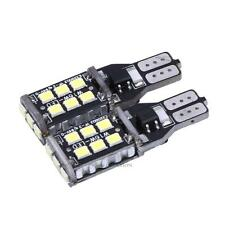 2 × Canbus ERROR FREE T10 15 SMD LED Car Side Wedge Light Bulb White Lamp 12-24V