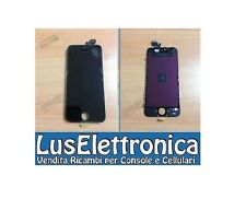 TOUCH SCREEN VETRO + LCD DISPLAY RETINA PER IPHONE 5 NERO CON FRAME COMPLETO