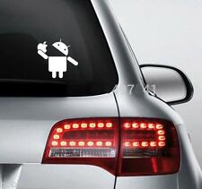 Android Eating Apple White Volkswagen Polo Vento Jetta Car Funny Sticker