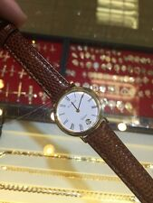 BUCHERER SWISS MEN'S WATCH LIZARD LEATHER STRAP CLASSIC GOOD CONDITION!!