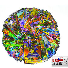 100 PCS Pokemon TCG MEGA Flash Cards PikachuBall Holo Pokemon EX Card US SELLER